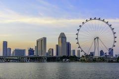 Ιπτάμενο της Σιγκαπούρης με τα περίχωρα Στοκ Εικόνες
