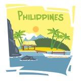 Ιπτάμενο των Φιλιππινών Στοκ φωτογραφία με δικαίωμα ελεύθερης χρήσης