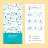 Ιπτάμενο, φυλλάδιο για την οδοντική κλινική Σύνολο προωθητικών προϊόντων Επίπεδο σχέδιο διάνυσμα Στοκ εικόνα με δικαίωμα ελεύθερης χρήσης