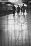 Διπλή έκθεση σταθμών τρένου Στοκ φωτογραφία με δικαίωμα ελεύθερης χρήσης