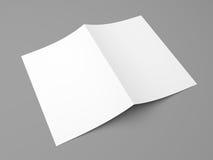 Διπλωμένο κενό ιπτάμενο, βιβλιάριο, κάρτα, επαγγελματική κάρτα ή φυλλάδιο Στοκ φωτογραφία με δικαίωμα ελεύθερης χρήσης