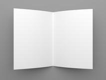 Διπλωμένο κενό πρότυπο ιπτάμενων, βιβλιάριων ή φυλλάδιων Στοκ Φωτογραφία