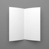 Διπλωμένο κενό πρότυπο ιπτάμενων, βιβλιάριων ή φυλλάδιων Στοκ Εικόνες