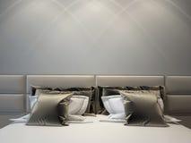 διπλός σύγχρονος κρεβατ Στοκ φωτογραφία με δικαίωμα ελεύθερης χρήσης
