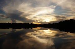 διπλό ηλιοβασίλεμα Στοκ Εικόνες