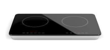 Διπλό κεραμικό cooktop Στοκ εικόνα με δικαίωμα ελεύθερης χρήσης