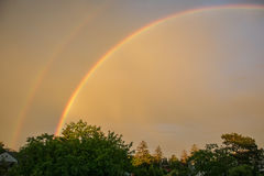 διπλό ουράνιο τόξο Στοκ φωτογραφία με δικαίωμα ελεύθερης χρήσης