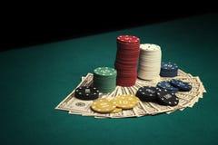 διπλό πόκερ φορέων έννοιας άσσων Στοκ Φωτογραφία