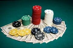 διπλό πόκερ φορέων έννοιας άσσων Στοκ Εικόνες
