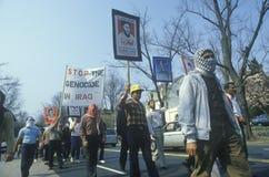 Ιρανική κοινοτική πορεία στη διαμαρτυρία ενάντια στο Ιράκ Στοκ φωτογραφίες με δικαίωμα ελεύθερης χρήσης