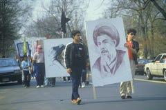 Ιρανική κοινοτική πορεία στη διαμαρτυρία ενάντια στο Ιράκ Στοκ Φωτογραφία
