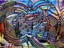 Ιριδίζον γυαλί Στοκ εικόνα με δικαίωμα ελεύθερης χρήσης