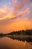 Ιριδίζον ηλιοβασίλεμα Στοκ εικόνες με δικαίωμα ελεύθερης χρήσης