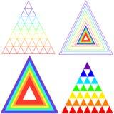 Ιριδίζον χρώμα τριγώνων συλλογής Ελεύθερη απεικόνιση δικαιώματος