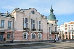 Ιρκούτσκ, Ρωσία, 16 Μαρτίου, 2017 Ιστορικό κτήριο στην οδό Λένιν, σπίτι 38, η προηγούμενη οδός Amurskaya Στοκ φωτογραφία με δικαίωμα ελεύθερης χρήσης