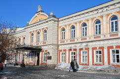 Ιρκούτσκ, Ρωσία, 16 Μαρτίου, 2017 Το ιστορικό κτήριο στο οποίο από το 1884 το έτος ήταν τοποθετημένο βιομηχανικό τεχνικό Sc Trape Στοκ Εικόνες