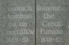 ιρλανδικό μνημείο πείνας Στοκ εικόνες με δικαίωμα ελεύθερης χρήσης