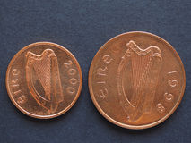 Ιρλανδική λίβρα & x28 IEP& x29  νομίσματα Στοκ φωτογραφίες με δικαίωμα ελεύθερης χρήσης