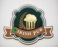Ιρλανδική πινακίδα μπαρ Στοκ Εικόνες