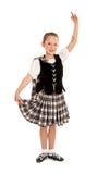 Ιρλανδικός χορευτής παιδιών στο κοστούμι Στοκ εικόνα με δικαίωμα ελεύθερης χρήσης