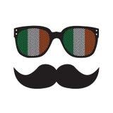 Ιρλανδικό άτομο με τα γυαλιά και moustache Στοκ φωτογραφία με δικαίωμα ελεύθερης χρήσης