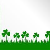 Ιρλανδικό υπόβαθρο φύλλων τριφυλλιών για την ευτυχή ημέρα του ST Πάτρικ ` s 10 eps ελεύθερη απεικόνιση δικαιώματος