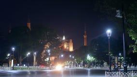 Ισλάμ τουριστών πάρκων νύχτας απόθεμα βίντεο