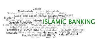 Ισλαμικές τραπεζικές εργασίες Στοκ εικόνα με δικαίωμα ελεύθερης χρήσης