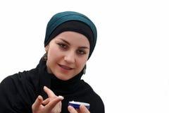 ισλαμική γυναίκα makeup Στοκ φωτογραφία με δικαίωμα ελεύθερης χρήσης