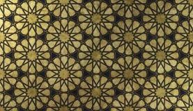 Ισλαμικό διακοσμητικό σχέδιο με τη χρυσή καλλιτεχνική σύσταση στοκ εικόνα