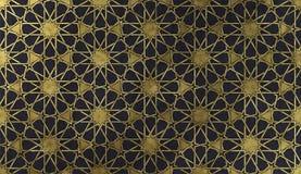 Ισλαμικό διακοσμητικό σχέδιο με τη χρυσή καλλιτεχνική σύσταση στοκ φωτογραφίες με δικαίωμα ελεύθερης χρήσης