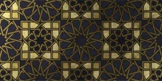Ισλαμικό διακοσμητικό σχέδιο με τη χρυσή καλλιτεχνική σύσταση στοκ εικόνες