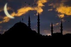 ισλαμικό μουσουλμανικό τέμενος Στοκ εικόνα με δικαίωμα ελεύθερης χρήσης