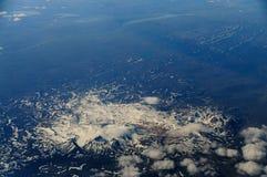 Ισλανδία από τον αέρα Στοκ Φωτογραφία