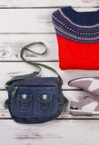 Ισλανδικοί άλτης, τσάντα και πάνινα παπούτσια στοκ εικόνες