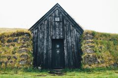 Ισλανδικό σπίτι τύρφης Στοκ φωτογραφία με δικαίωμα ελεύθερης χρήσης