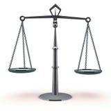 Ισορροπία κλίμακας δικαιοσύνης διανυσματική απεικόνιση