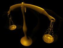 ισορροπία χρυσή Στοκ φωτογραφίες με δικαίωμα ελεύθερης χρήσης