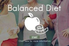 Ισορροπημένη έννοια επιλογής επιλογής διατροφής διατροφής υγιής Στοκ Εικόνες