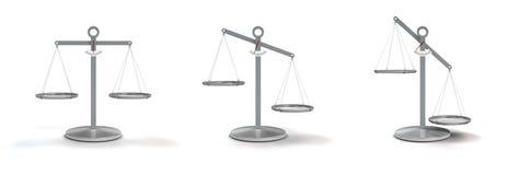 Ισορροπημένη και θιγμένη κλίμακα Στοκ εικόνες με δικαίωμα ελεύθερης χρήσης