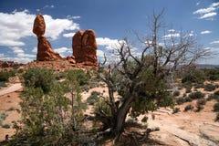 ισορροπημένος βράχος ΗΠΑ Utah Στοκ Εικόνα