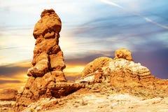 Ισορροπημένος βράχος στο εθνικό πάρκο αψίδων, Γιούτα, ΗΠΑ Στοκ εικόνες με δικαίωμα ελεύθερης χρήσης