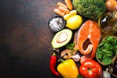 Ισορροπημένο υπόβαθρο τροφίμων διατροφής στοκ εικόνες