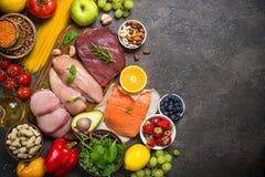 Ισορροπημένο υπόβαθρο τροφίμων διατροφής στοκ εικόνες με δικαίωμα ελεύθερης χρήσης