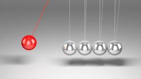 ισορροπώντας λίκνο Newton s σφα& ελεύθερη απεικόνιση δικαιώματος