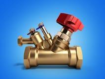 Ισορροπώντας βαλβίδα με τον αγωγό για την τρισδιάστατη απόδοση υδραυλικών σε ένα gradie ελεύθερη απεικόνιση δικαιώματος