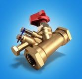 Ισορροπώντας βαλβίδα με τον αγωγό για την τρισδιάστατη απόδοση υδραυλικών στην κλίση απεικόνιση αποθεμάτων