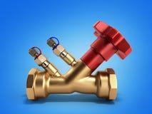 Ισορροπώντας βαλβίδα χωρίς αγωγό για την τρισδιάστατη απόδοση υδραυλικών σε ένα gra απεικόνιση αποθεμάτων