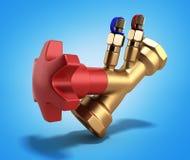 Ισορροπώντας βαλβίδα χωρίς αγωγό για την τρισδιάστατη απόδοση υδραυλικών στο gradi απεικόνιση αποθεμάτων
