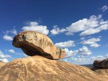 Ισορροπώντας βράχος Domboshava Στοκ Φωτογραφία
